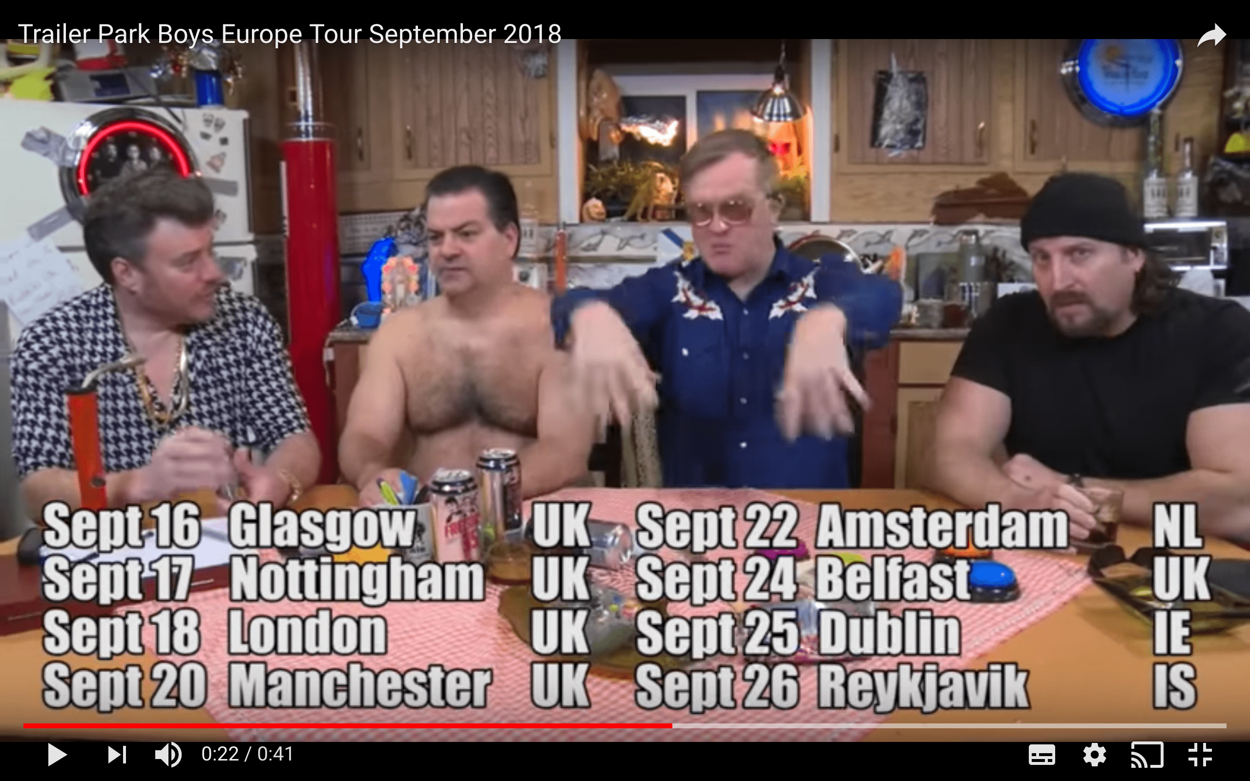 Trailer Park Boys Europe Tour